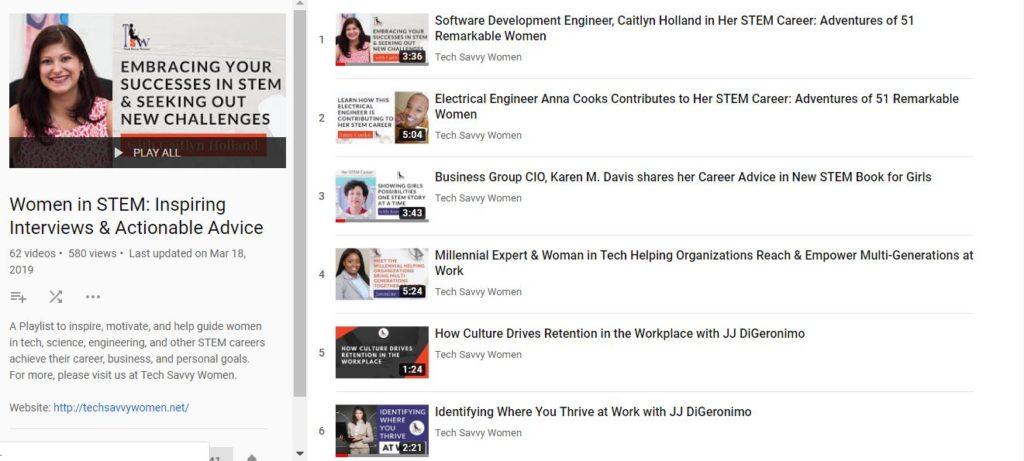 women in tech, youtube channel