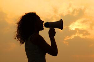 women in tech, speaking up, being heard