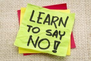say no, learn to say no