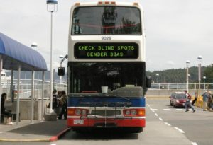 unconscious bias, bus sign